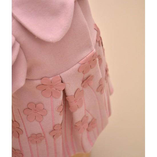 Paltonas din stofa cu floricele Leah