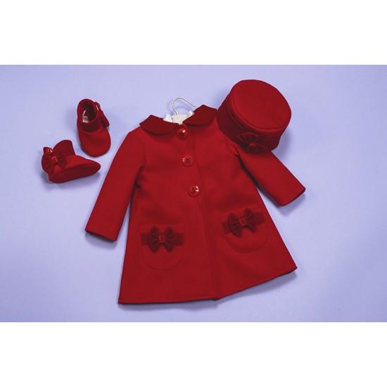 Set paltonas rosu si toca Beautiful Red