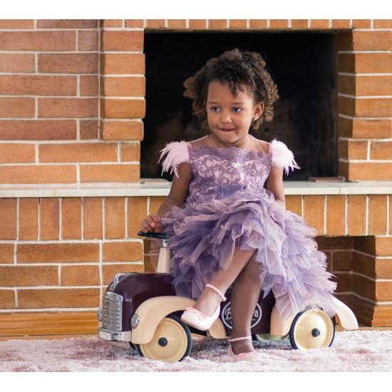 Rochie fetite cu volane Lavanda Shake