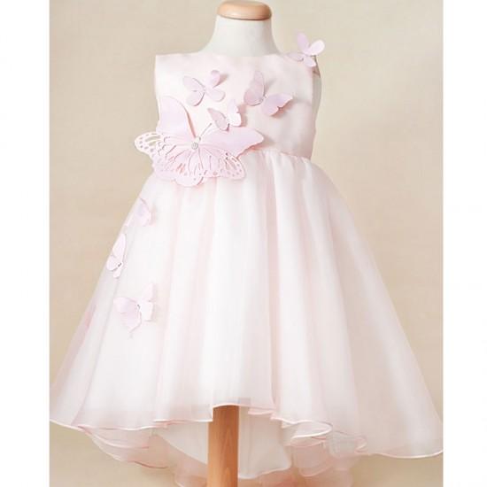 Rochie ocazie fete din organza naturala Pink Blush