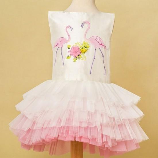 Rochita tutu din shantung natural Two Flamingos