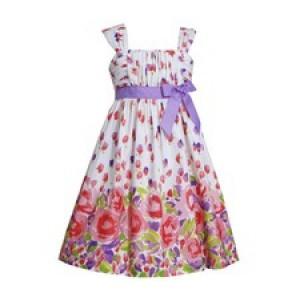 Rochita cu bordura cu imprimeu floral